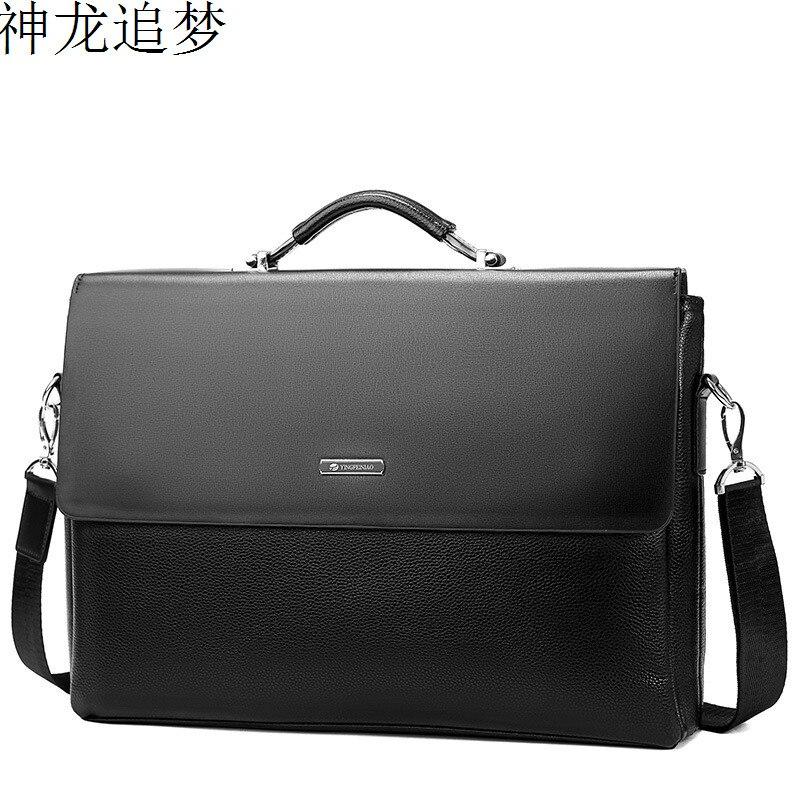 Fashion Men PU Leather Briefcase Bag Business Men Shoulder Bag Man Laptop Briefcase Men's Totes Bag Handbag Vintage Male Purse