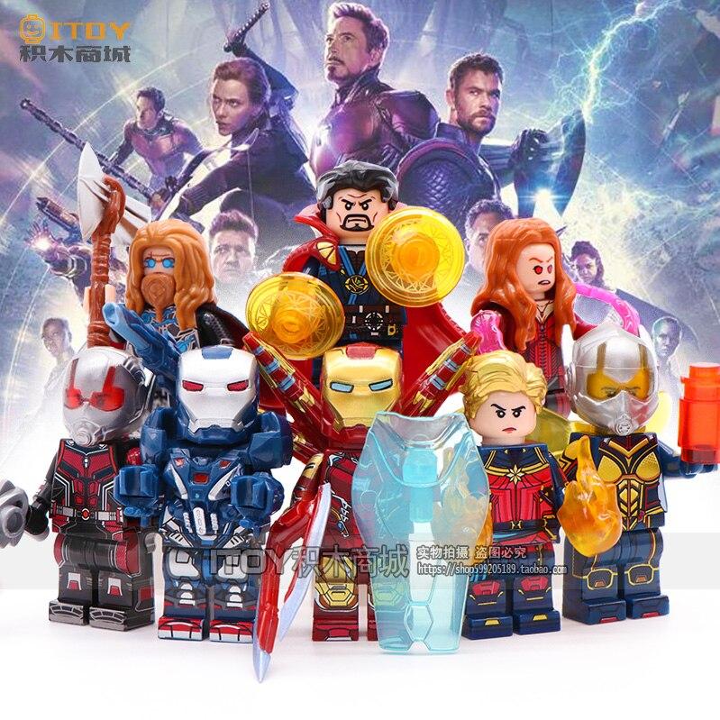 Marvel Avengers Iron man Pepper Spiderman Thor Wasp Ant Man Doctor Strange Scarlet Witch War Machine Building Blocks Toys Bricks
