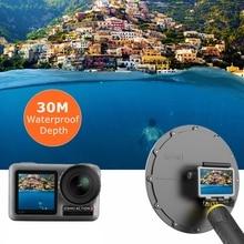 2019 Yeni 30m Su Geçirmez Dome Port Dalış lens kapağı Kabuk Durumda DJI Osmo Eylem Kamera Sualtı Fotoğrafçılığı Aksesuarları