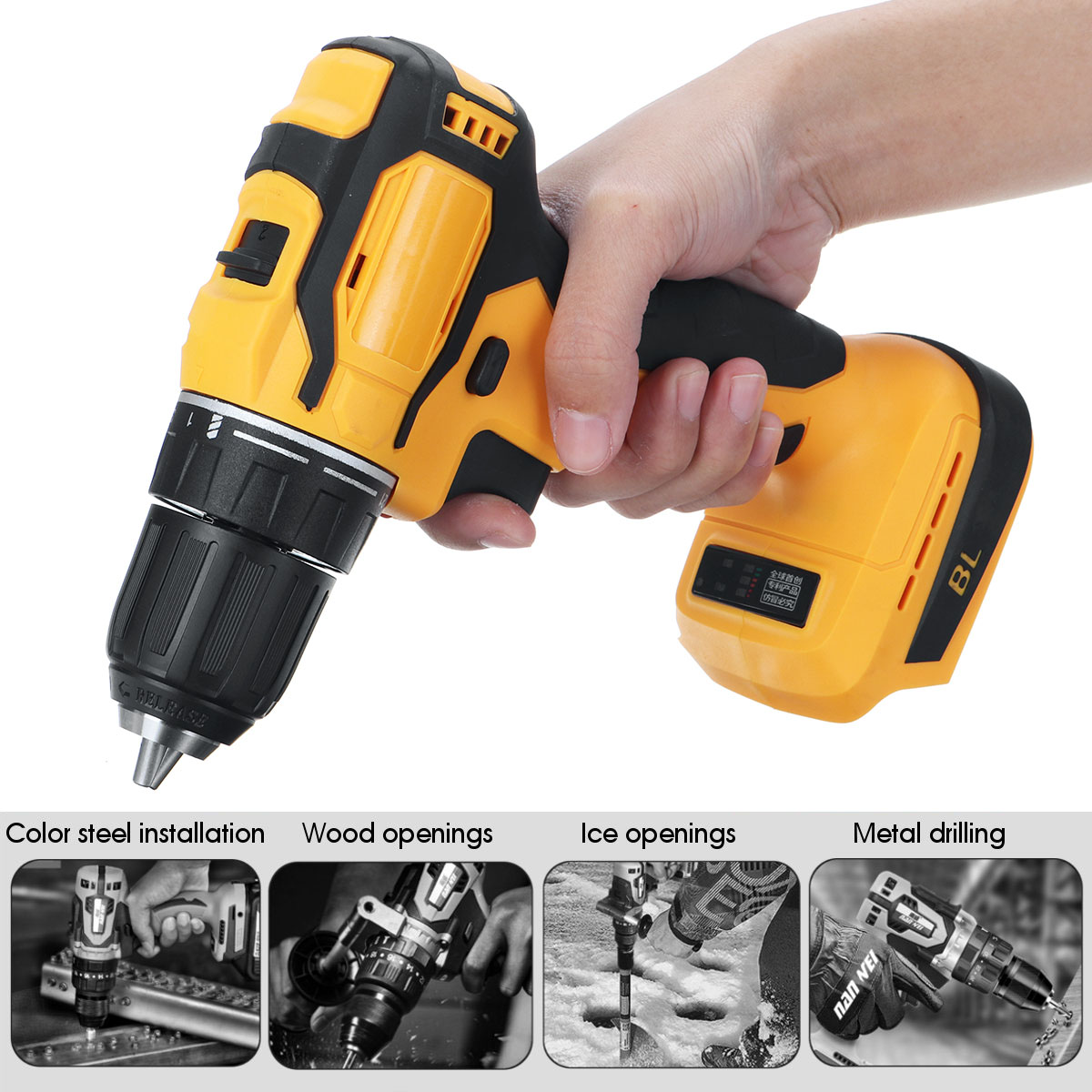 Drill No Makita 18V Fit Cordless For Drills Power Battery Cordless Screwdriver 520Nm Professional   Tools Battery