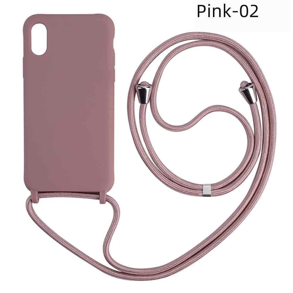 Flip Phone Pouch with Lanyard Neck Strap Soft Pouch for Mobile Phone