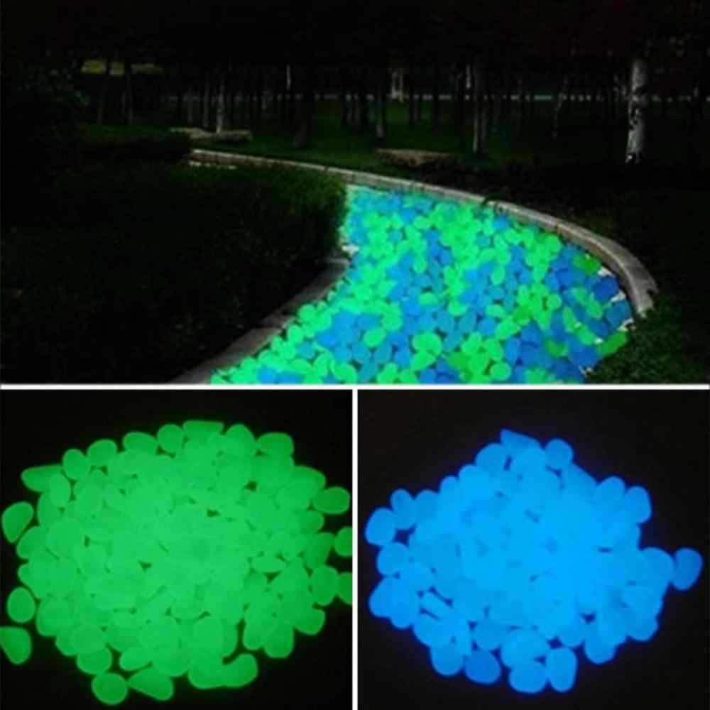 50Pcs glow in the dark garden glowing pebbles for wedding party gardening pool bar sidewalk rock garden decoration glow
