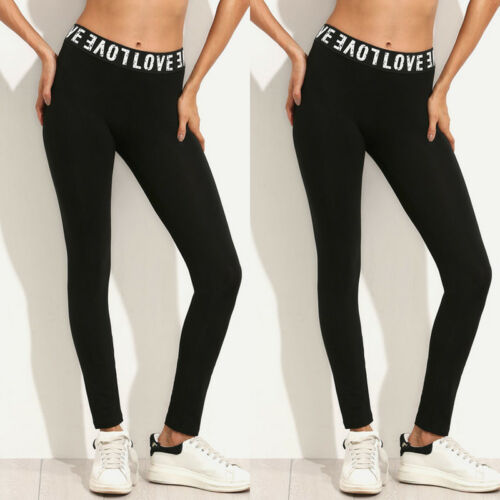 Ogilvy Mather 2020 Fashion Leggings For Women Workout Leggins Fitness Sports Stretch Trousers Slim Long Black Letter Print Pants