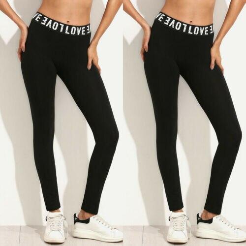 Ogilvy Mather 2020 Fashion Leggings For Women Workout Leggins Fitness Sports Stretch Trousers Slim Long Black Letter Print Pants