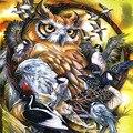 Алмазная живопись Вышивка 5D DIY животного сова, крест стежка Наборы стразы камни в форме ромба дрель мозаичного искусства стены дома номер Де...