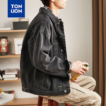 TONLION 5 Styles Available Men's Jacket Denim Plus Size Men Black Blue Preppy Style Outerwear for Men Spring and Autnmn 2020 New