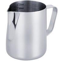 Novo jarro de leite 350 ml/12 fl. oz  304 jarro de leite de aço inoxidável  jarro de espuma de leite para fazer café cappuccino|Jarros de leite| |  -