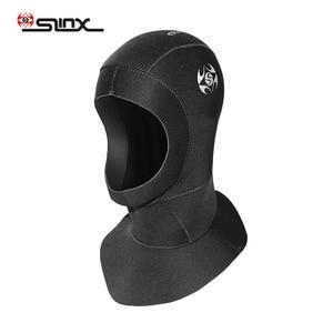 Неопреновый гидрокостюм для ныряния с капюшоном, вентилируемый нагрудник с капюшоном 3 мм для мужчин и женщин, шапка для водных видов спорта...