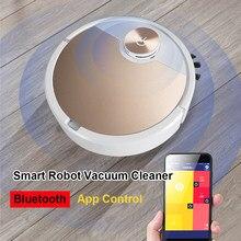 Robot aspirador para barrer y fregar, succión de 3000pa, depósito de polvo de 500ml, Control por aplicación Bluetooth
