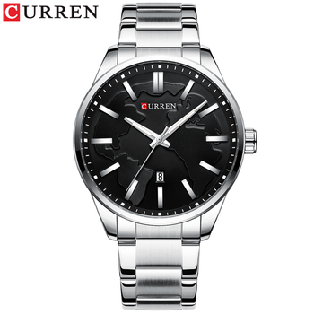 CURREN Creative Design Dial Quartz Watch Stainless Steel Clock Male Business Men's with Date Fashion Gift Reloj Hombres - discount item  53% OFF Men's Watches
