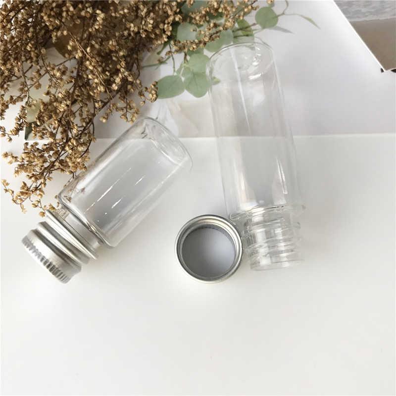 10/20ML taşınabilir boş kavanoz kozmetik kaplar cam örnek şişesi ile alüminyum kapak küçük şampuan makyaj doldurulabilir şişeler
