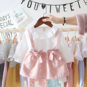 Newborn Infant Dress Bow Pink Green Floral Spring Girl Baby Clothing Party Princess Long-sleeve Dress 0-2 Years Old Tutu Dress