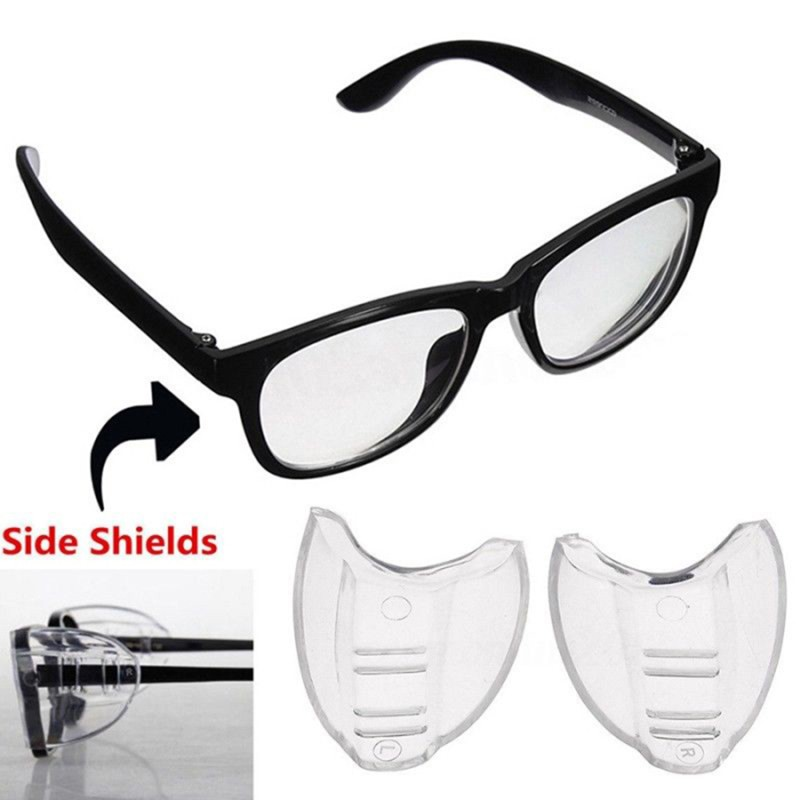 2 Pair Universal Safety Optical Sideshield Side Shields Glasses Wings Safety Glass Flexible Slip-On Protector Workplace Eyewear