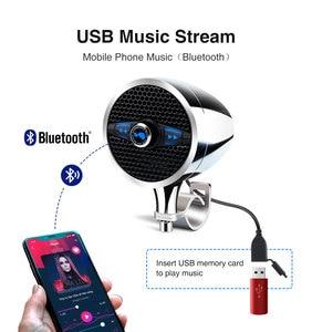"""Image 2 - Lexin Новый S3 3 """"50 Вт MP3 музыкальный аудио плеер Bluetooth колонки для мотоцикла водонепроницаемый портативный стерео с FM радио Bocina"""