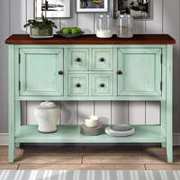 Kitchen Furnirures Buffet Sideboard Console Table With Bottom Shelf Kitchen Cabinet Modern Wooden Container House Furniture