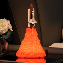 New 3D Printing Space Shuttle Rocket Creative Night Light Moonlight For Lovers As Room Home Bedroom Decoration