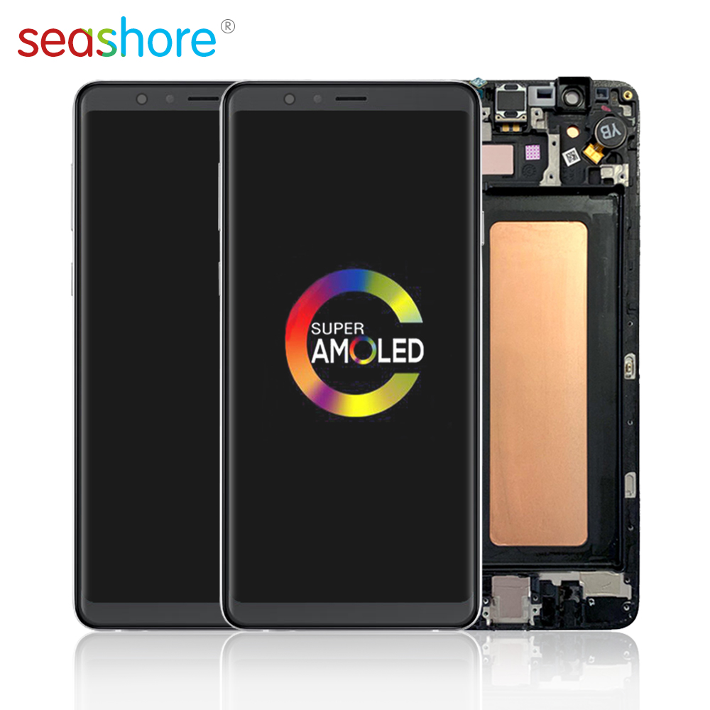 ORIGINAL For SAMSUNG Galaxy A8 Star LCD Touch Screen Digitizer Assembly For Samsung A8 Star Display with Frame Replacement G885