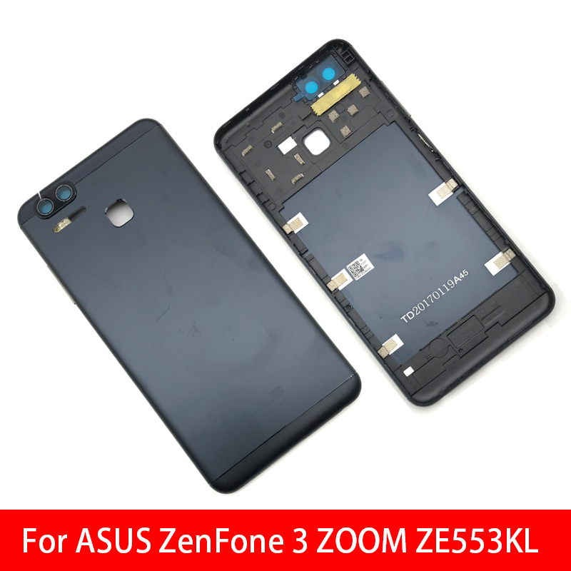 Back Battery Door Rear Housing Cover Case With Side Power Key +Volume Button For ASUS Zenfone 3 Zoom ZE553KL