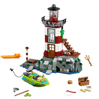 Fit 75903 Compatible Legoinglys Friends Scooby Doo Haunted Lighthouse Set Animal 10431 Building Blocks Toys for Children Gifts