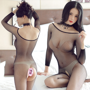 Fashion Cute Stockings Women Temptation Perspective Backless Fishnet Open Crotch Socks Transparent Tights Pantyhose Bodystocking