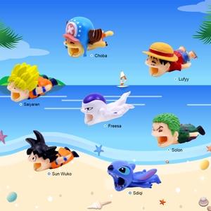 Image 3 - CHIPAL Nette Anime Beißen Draht Wickler für iPhone USB Kabel Protector Organizer Chompers Cartoon Tier Bites Linie Halter Zubehör