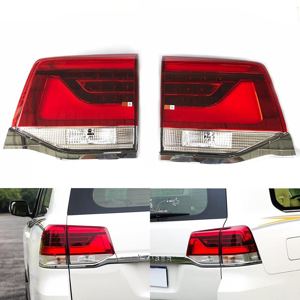 Для Toyota Land Cruiser LC200 GRJ202 2016 комплект для освещения автомобиля Авто задний фонарь Поворотная сигнальная Тормозная лампа Предупреждение ющий б