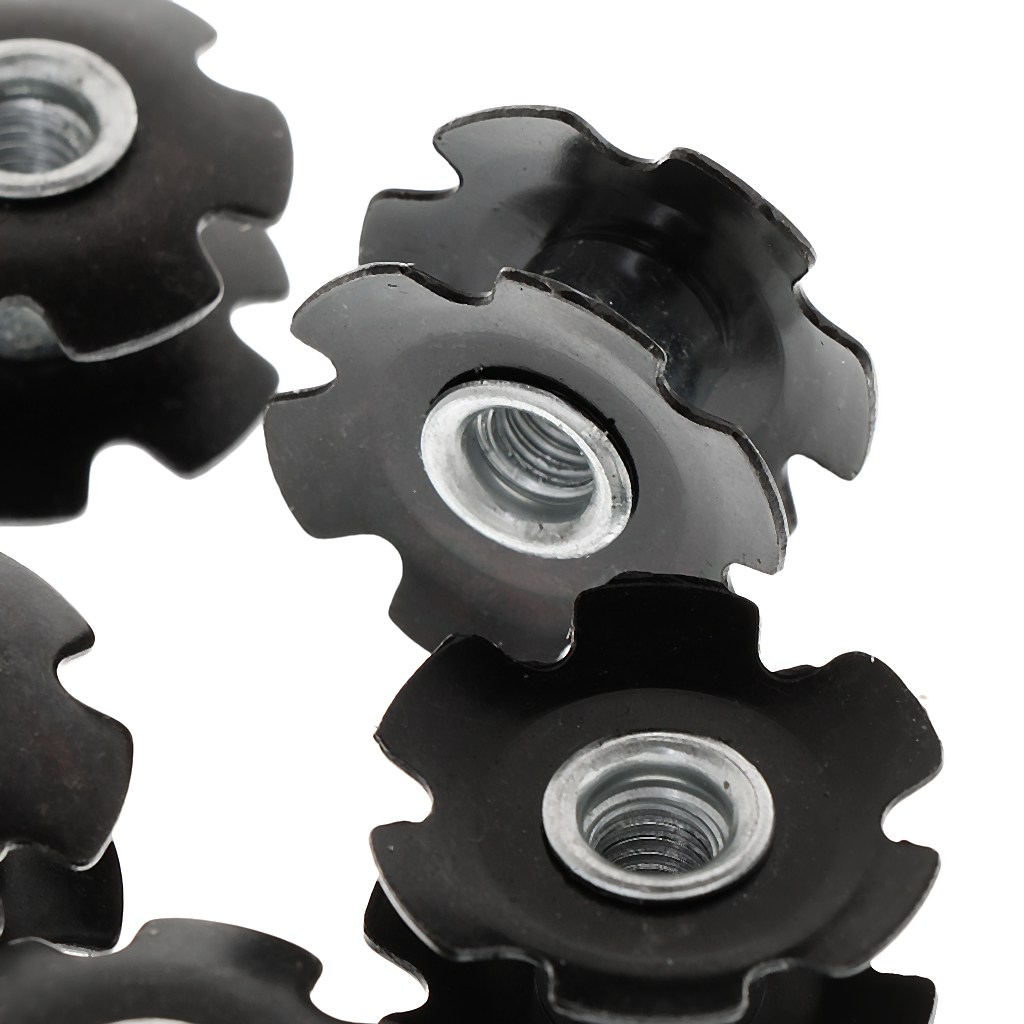 """10pcs Headset Flanged Star Nut Washer for 1-1/8"""" Threadless Fork Steerers Mountain MTB Bike Bicycle"""