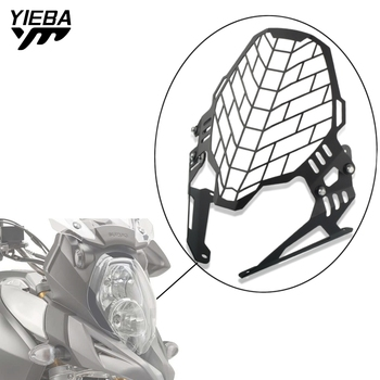 Motorcycle Aluminum Headlight Protector cover grill FOR SUZUKI V-STORM 1000 DL1000 2017 2018 2019 VSTROM V STROM Accessories 1pcs x chrome led headlight for harley davidson v rod vrod headlight vrsc v rod led headlight motorcycle aluminum headlight