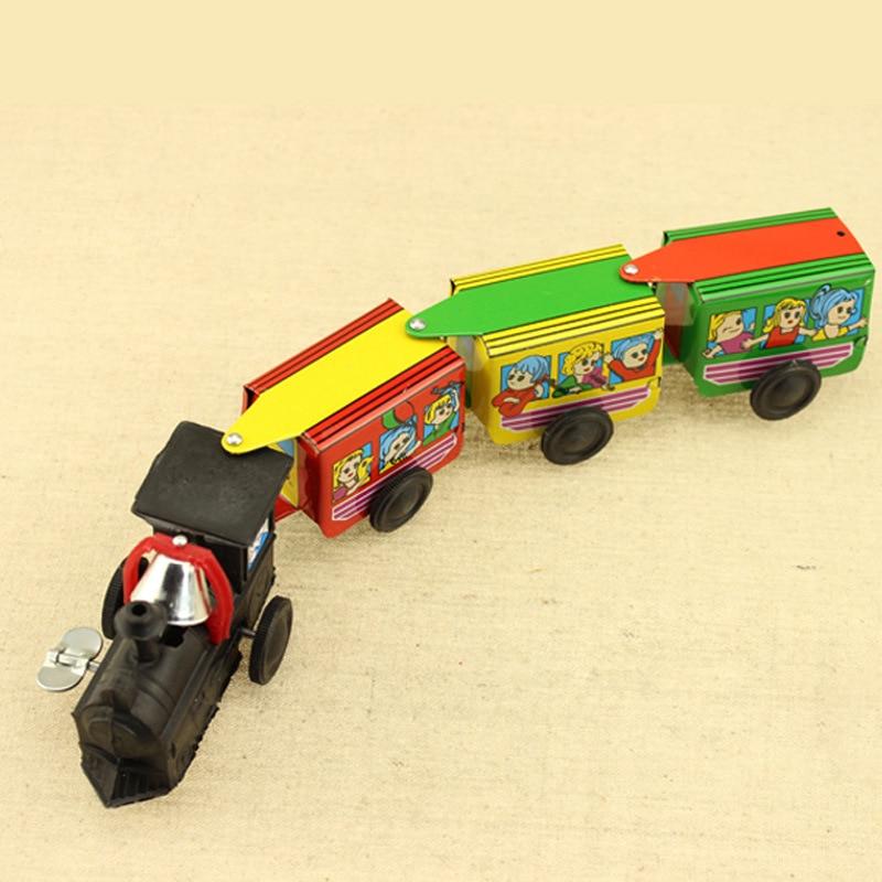 80 Nostalgic Retro Tin Toys Spring Algam Train With Three-section Cabin Boutique Toy Store