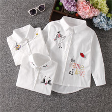 Новое поступление, белая блузка для девочек осенние милые детские рубашки с длинными рукавами и рисунком блузки для девочек школьная одежда для подростков с рисунком кота топы для детей