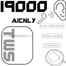 Original i9000 tws 1:1 Smart Sensor Pop Up Earbuds Black Wireless Charging Bluetooth5 Earphones pk H1 Chip i200 i500 Headset