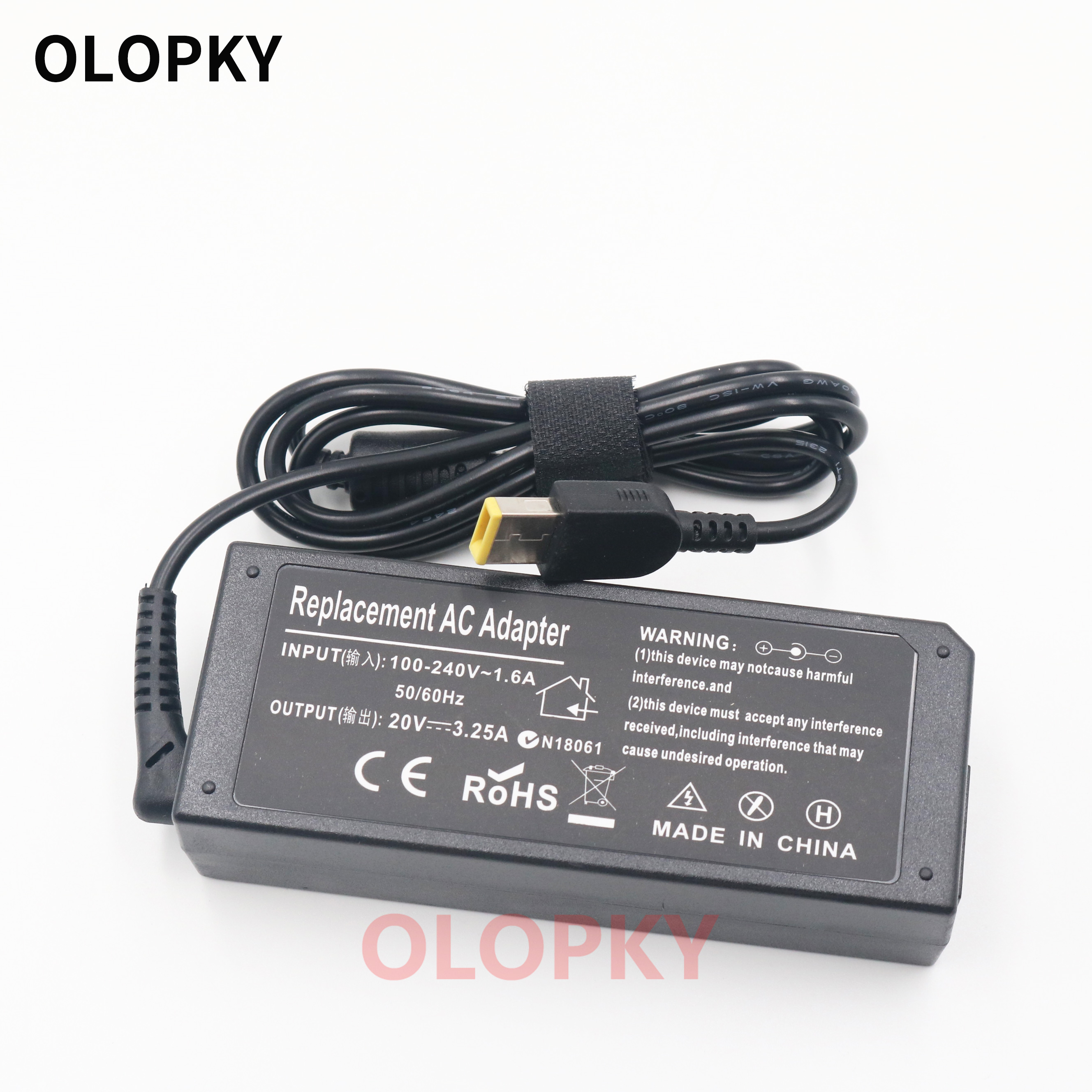 Laptop AC Adapter Charger Power Supply For Lenovo G50 G50-45 G50-30 80E501JEUS 20V 3.25A 65W