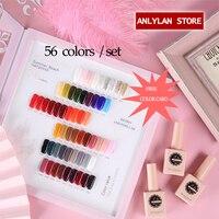 2020 New 56 Colors Fashion Semi Permane Top Coat Color Gel Nail Gel Polish Set For Nail Art Set UV Lacquer For Manicure