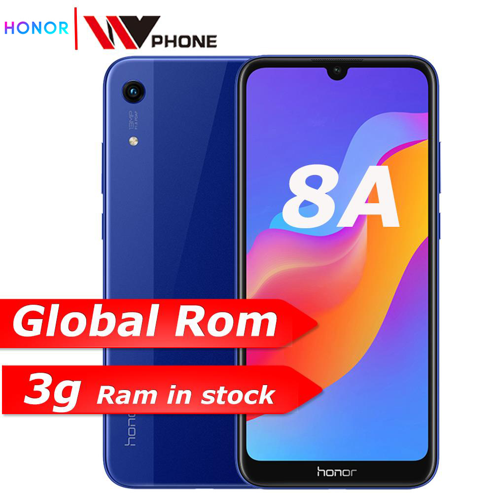 new arrived Original Honor 8A 6.09 inch MTK6765 <font><b>Android</b></font> 9.0 8.0MP+13.0MP camera 3020mAh face unlock