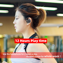 A6 Bluetooth 5.0 Headphones Sports Running Wireless Earphone comfortable 12 hours music Portable Bluetooth Headset with mic cas