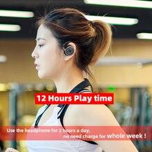 A6 słuchawki Bluetooth 5.0 sport Running bezprzewodowe słuchawki wygodne 12 godzin muzyka przenośny zestaw słuchawkowy Bluetooth z mikrofonem cas