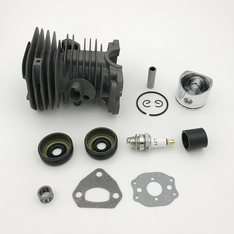 Rebuild Gasket Bearing 136 HUNDURE 141 HUSQVARNA Motor For Cylinder Parts 142 Chainsaw Kit Ring 137 Spare 38MM Piston