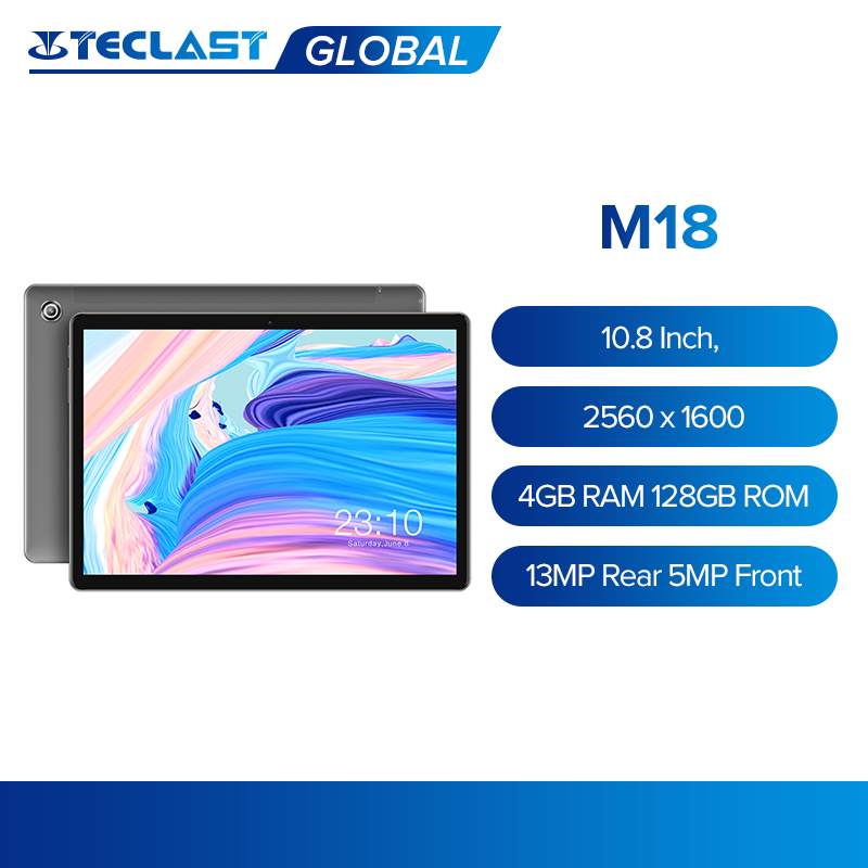 Teclast M18 Tablet 10,8 Zoll IPS 2560x1600 Deca Core 4GB RAM 128GB ROM 4G Netzwerk anruf Dual Kamera 13MP Hinten 5MP Vorne 8000mAh