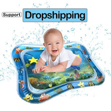 Inflatable Infants Tummy Time Activity Mat Baby Play Water Mat Toys for Kids Mat Summer Swimming Beach Pool Game Baby Gyms Mat(China)