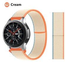 Bracelet 20/22mm en Nylon pour Samsung Galaxy watch, pour Samsung Galaxy Watch 3 45/46/42mm/active 2 Gear S3 Frontier Huawei watch GT 2 2e pro