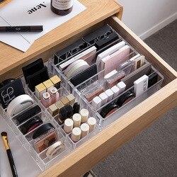 Portátil acrílico Transparente Organizador de Maquiagem Caixa de Maquiagem Organizador De Armazenamento Cosmetic Organizer Maquiagem Gavetas De Armazenamento Organizador