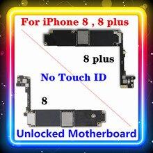 Para iphone 8 ,8 plus placa mãe sem toque id 256/64gb ios instalado chips completos mainboard limpo original substituído placa lógica