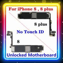 Voor Iphone 8 ,8 Plus Moederbord Geen Touch Id 256/64Gb Ios Geïnstalleerd Volledige Chips Moederbord Schoon Originele Vervangen Logic Board