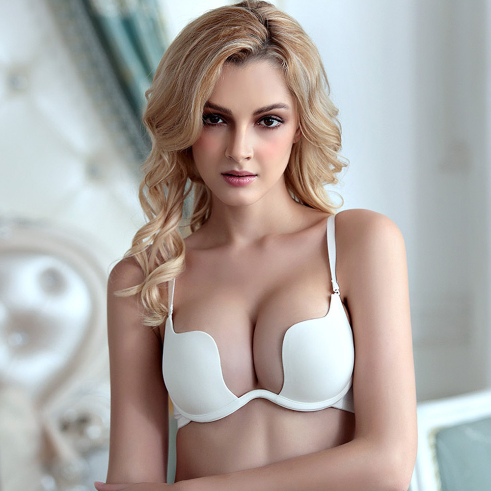 Womes Push Up Bras Deep V Padded Sexy Bra Lingerie Backless Underwired Underwear Bralette A B C Cup 1