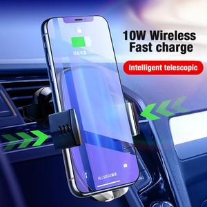 Image 2 - Suntaiho Qi Auto Draadloze Oplader voor XS Max Samsung S8 S10 Note10 Quick Draadloze Opladen Lader Auto Mount Mobiele Telefoon houder