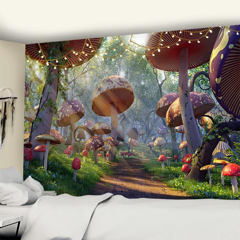 Psychedelic ciel étoilé Pyramide tapisserie hippie mur pendaison tapisserie décoration maison