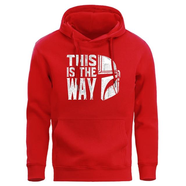 This Is The Way Mandalorian Men Hoodies Sweatshirts Male Hoodie Pullover Star Wars Sweatshirt Winter Fleece Warm Crewneck Hoody
