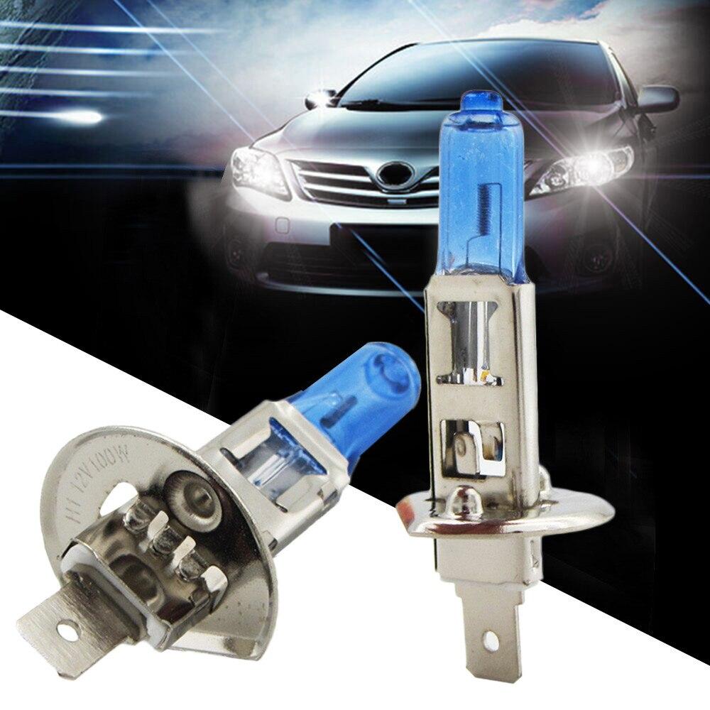 Для девочек; Полосатый Топ 2 шт. H1 100W галогенные Карро светильник яркий белый автомобиль интимн головной светильник лампы 12V 6000K дропшиппинг