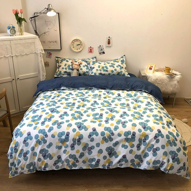 Simple Bedding Sets Blue and White 5