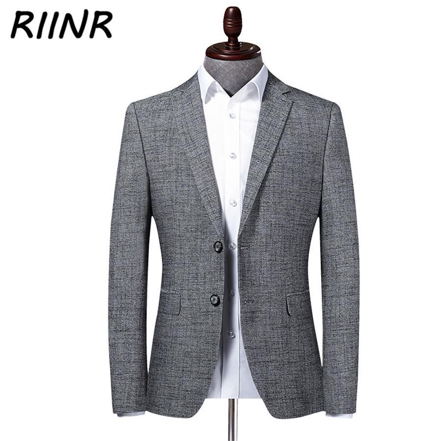 Riinr 2020 Spring Autumn New High Quality Men's Suit Business Casual Clothing Fashion Slim Suit Men Blazer Jacket Male M-4XL